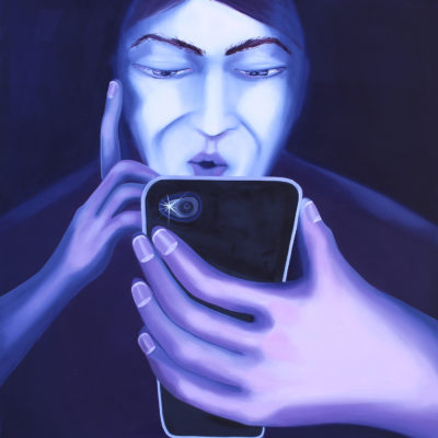 Self-portrait with a phone
