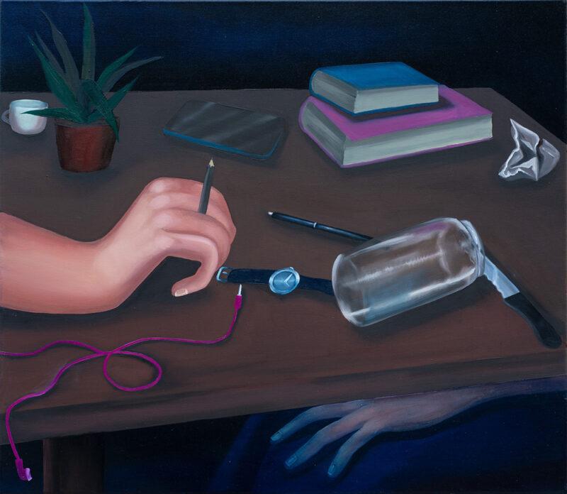 A table / 70x80/oil on canvas/2020